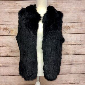 Lord & Taylor Surell Rabbit Fur Vest